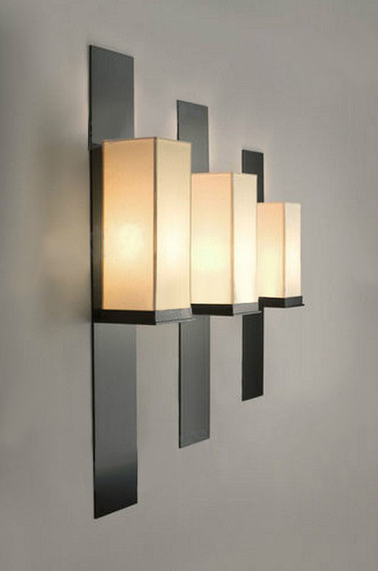 Modern Fabric Wall Lights : Modern KART Iron and Fabric Wall Sconce - Contemporary - Wall Sconces - new york - by PHOENIX ...
