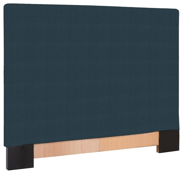 Howard Elliott Sterling Indigo Full Queen Slipcovered Headboard modern-headboards