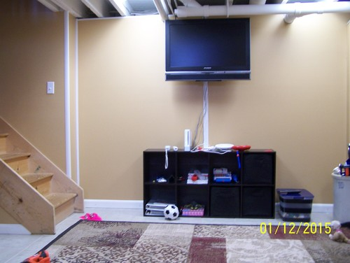 Help arranging furniture in our basement family room Help arranging furniture
