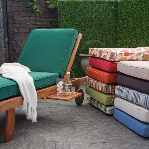 Coral Coast Chaise Lounge Cushion Forest Green contemporary-outdoor-pillows