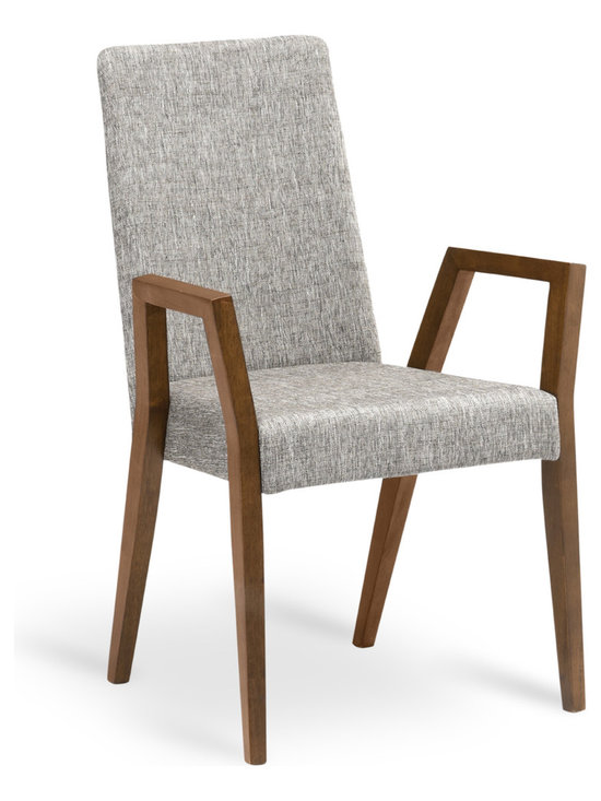 Bryght - Melvie Coral Cocoa Dining Armchair - Add a fun twist to a modern or a traditional dining table with the Melvie dining armchair. Modern clean lines define the stand out leg design which alternates as a comfortable resting spot.