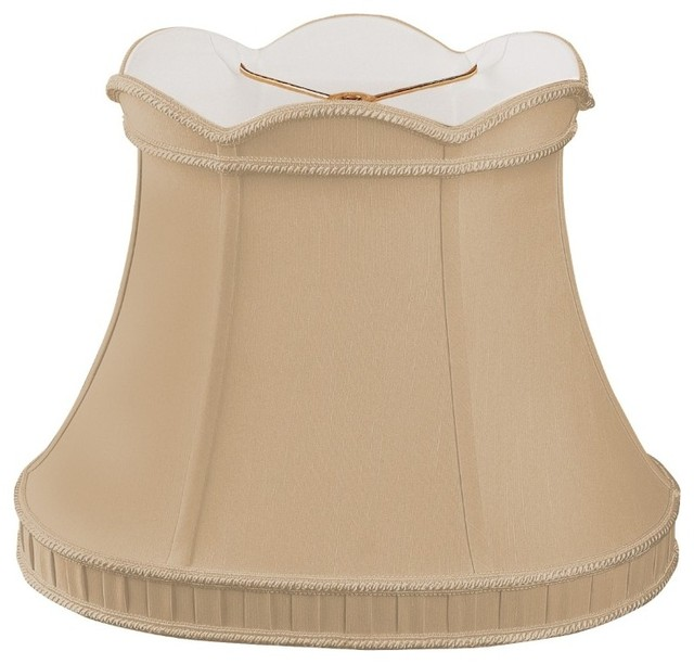 Scalloped Top with Bottom Gallery Oval Bell Designer Lampshade traditional-lamp-shades