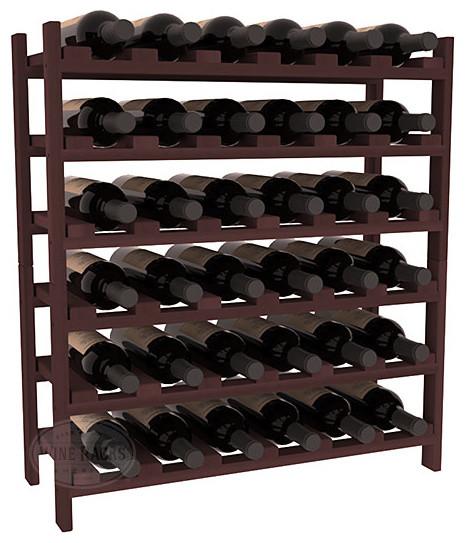 36 Bottle Stackable Wine Rack in Premium Redwood, Walnut Stain contemporary-wine-racks