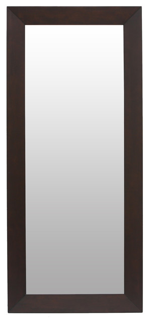 Daffodil Light Cappuccino Framed Full Length Mirror modern-mirrors