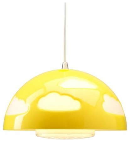 SKOJIG Pendant Lamp, Yellow contemporary-kids-ceiling-lighting