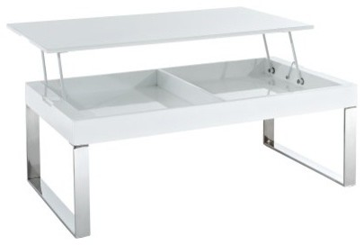East End Imports Rectangle Metal and Glass Coffee Table with Lift Top modern-coffee-tables