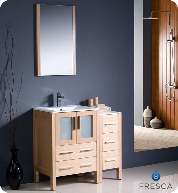 "24"" to 48"" Torino Petite Modern Vanity - Light Oak (FVN6224LO-UNS) modern"