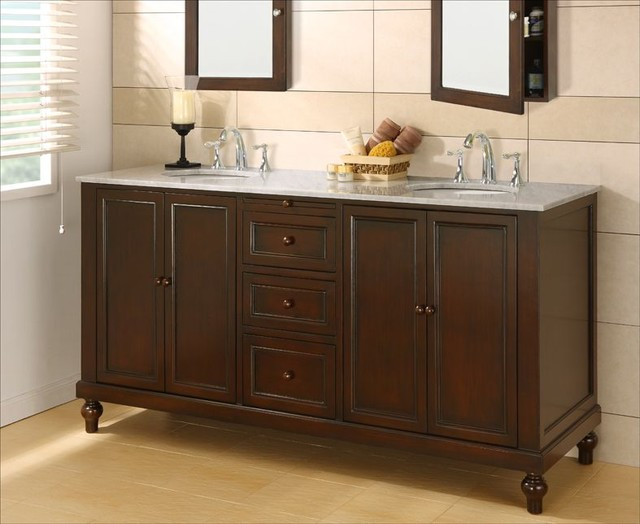 Double Bathroom Vanities Traditional Bathroom Vanities And Sink