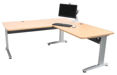 L Shaped Ergonomic Electric Height Adjustable Desk Lovett
