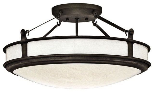 """Contemporary Forecast MVP Collection 22"""" Wide Iron Ceiling Light contemporary-ceiling-lighting"""