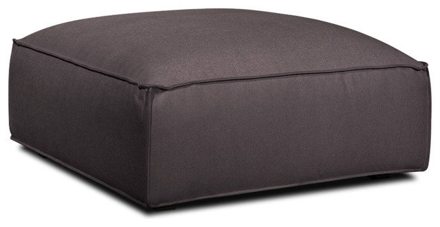 Wembley Dark Grey Ottoman modern ottomans and cubes