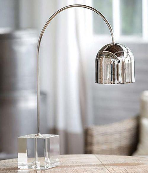 Arc Desk Lamp, Nickel Plated modern-desk-lamps
