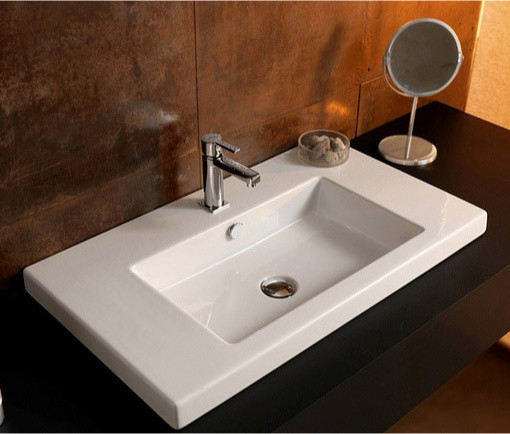 Beautiful Bathrooms Houzz: Beautiful Wall Mounted, Vessel, Or Built-In White Ceramic