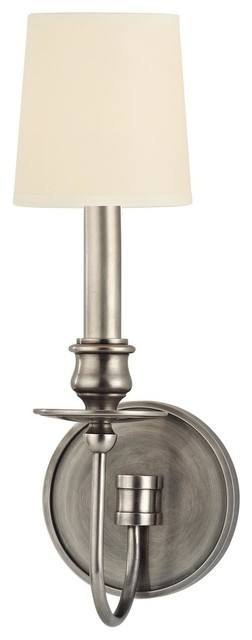Hudson Valley Lighting 8211-AS Cohasset 1 Light Wall Sconce, Aged Silver traditional-wall-lighting