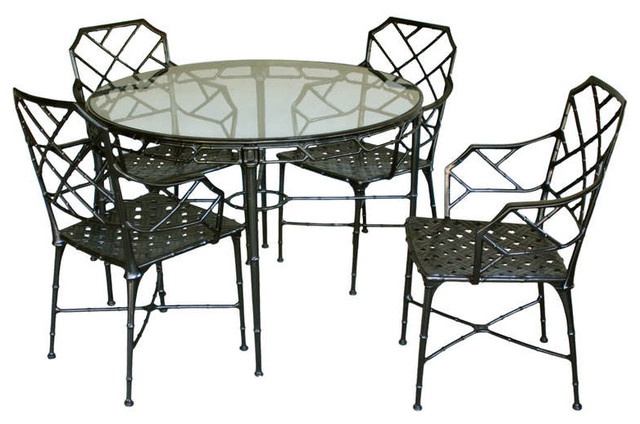 Faux Bamboo Patio Set by Brown Jordan Traditional