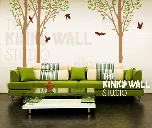 Vinyl Wall Decal Tree by Kinky Wall Studio contemporary-wall-decals