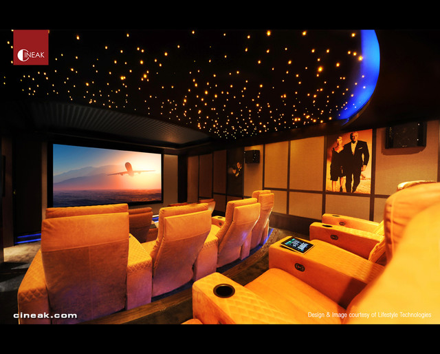 CINEAK Ferrier Luxury Seats featured in High-Tech Theater - Contemporary - Home Theater - other ...