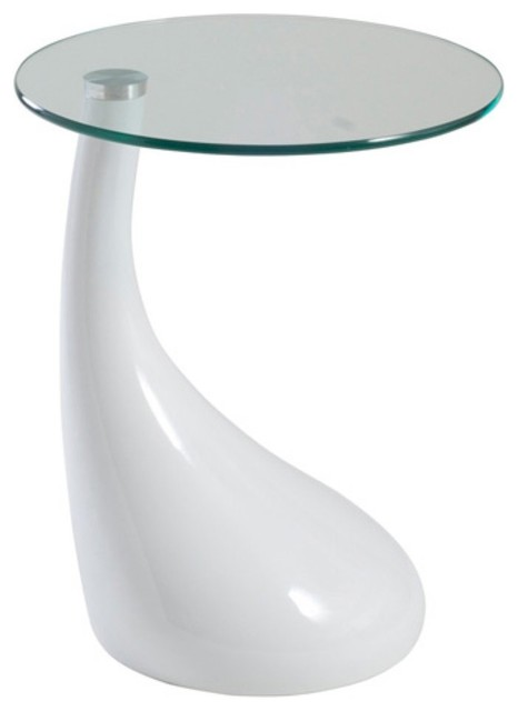 Euro Style Julia Teardrop Side Table - White modern-side-tables-and-end-tables