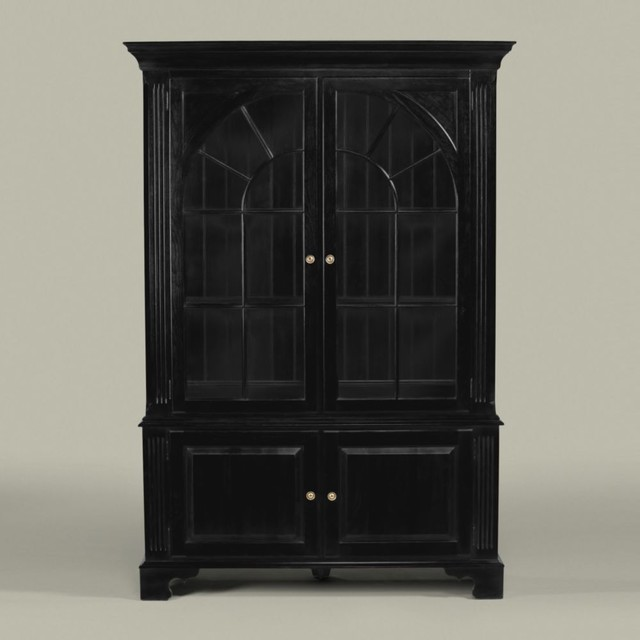 China Cabinet with Palladian Windows - Traditional - China Cabinets And Hutches - other metro ...