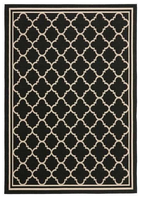 Indoor outdoor courtyard 9 39 x12 39 6 rectangle black beige area rug contemporary outdoor rugs - Moderne trappenhelling ...