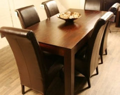 Dakota 160cm Dining Table with 6 Chairs modern dining tables