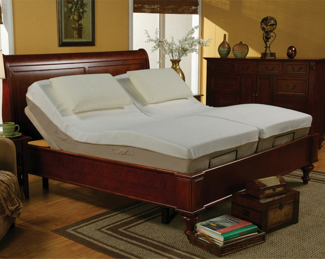 Casual Queen Size Adjustable Metal Bed Frame ONLY No