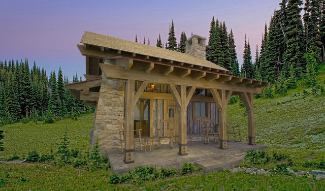 Park Range Cabin traditional rendering