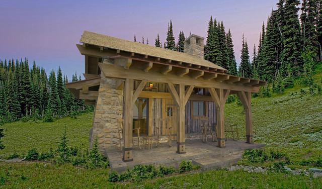 Park Range Cabin traditional-rendering