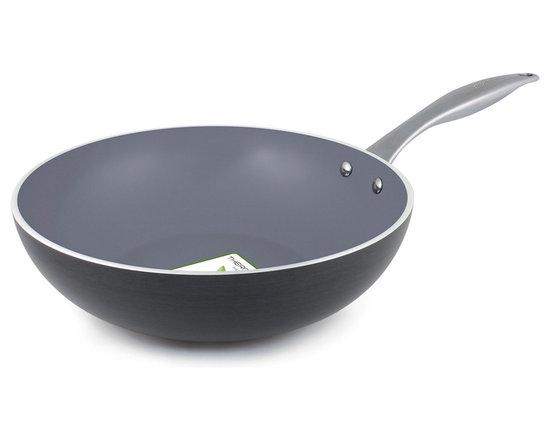 Green Pan Ceramic 'Venice' non stick wok -