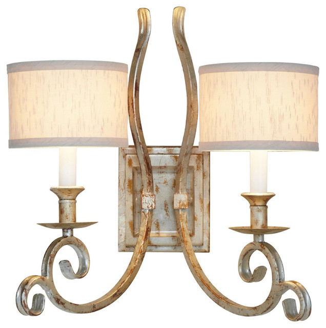 Candice Olson Traditional Living Rooms: AF Lighting Candice Olson Lucy Two Light Soft Gold Double