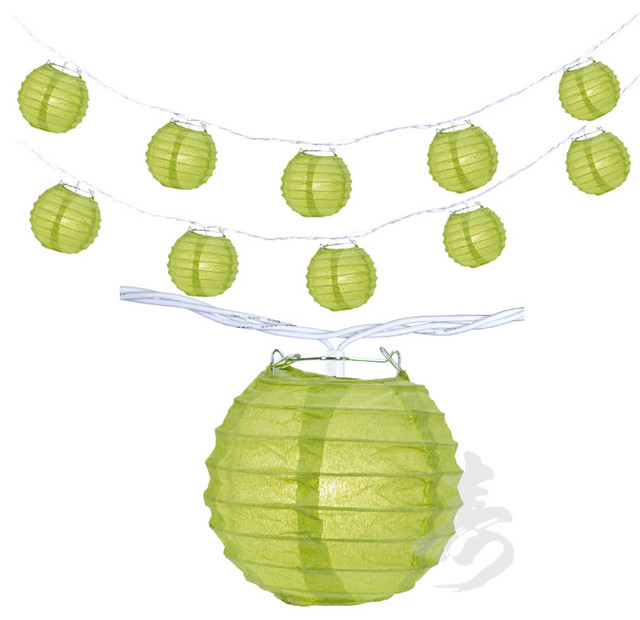 Chartreuse Round Shaped Party String Lights eclectic-outdoor-lighting
