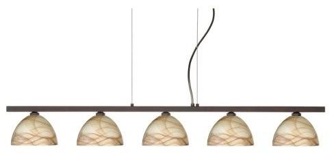 Besa 5LP-467983 Mocha Brella Pendant - 38.25W in. contemporary-pendant-lighting