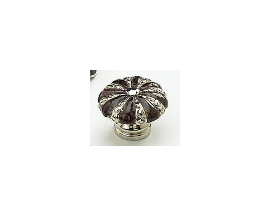 Schaub cabinet knob - Schaub knobs precious inlays collection. Gem stone and sheel hardware.