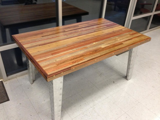 Redwood Reclaimed Wood Dining Table Eclectic Dining Tables
