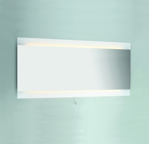 fuji wide backlit mirror contemporary bathroom mirrors by