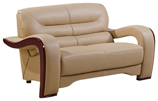 Global Furniture USA 992-RV Bonded Leather Loveseat in Cappuccino traditional-love-seats