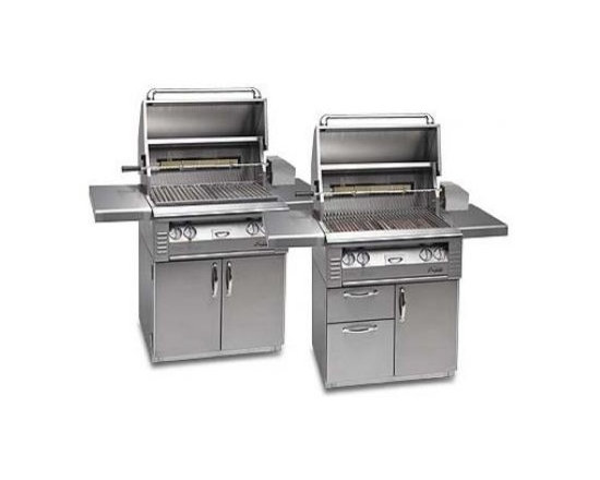"Alfresco 42"" Searzone On-cart Grill, Stainless Liquid Propane 