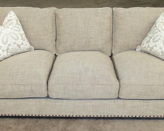 Customer Custom Orders - Robin Bruce Santana (3) Cushion Sofa (Down Wrapped Cushions). You Choose the Fabric.