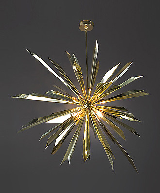 Tony Duquette - California Sunburst Chandelier eclectic chandeliers