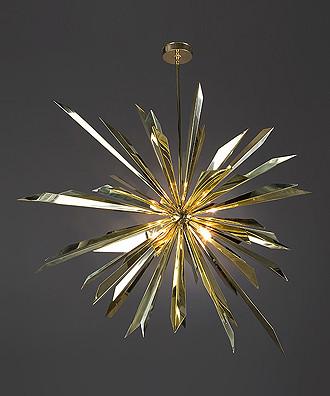 Tony Duquette - California Sunburst Chandelier eclectic-chandeliers