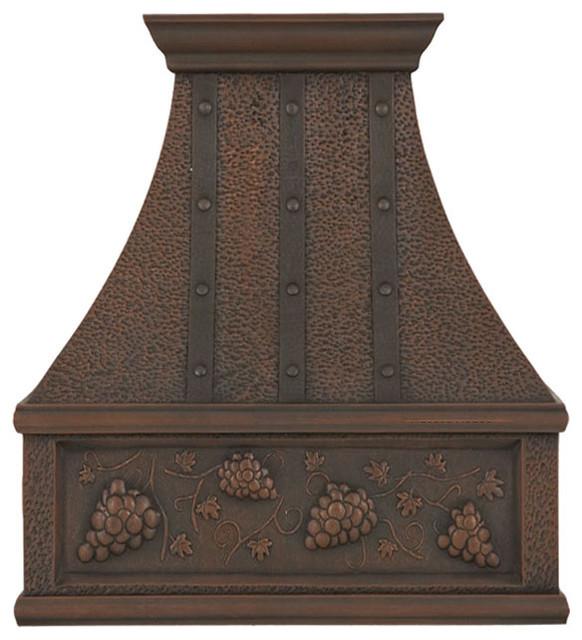 "Custom Copper Oven Hood ""Nashville'', Antique, 48"