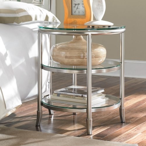 Essex metal glass nightstand contemporary Night table ideas