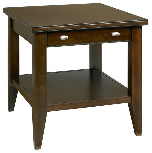 Tribeca End Table W Drawer Coffee Contemporary Side Tables And End Tables By Shopladder