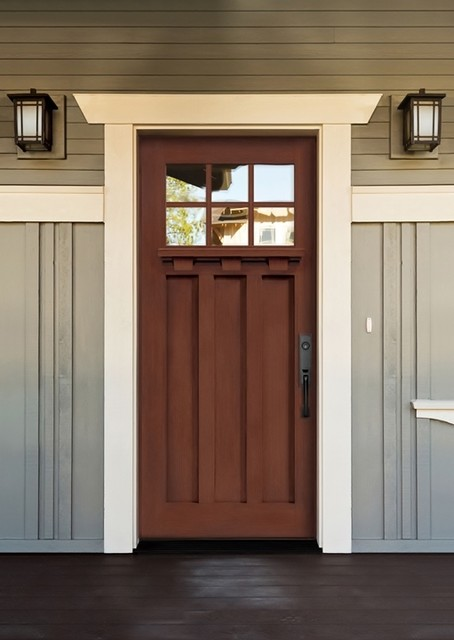 Belmont craftsman fiberglass doors for Craftsman entry doors