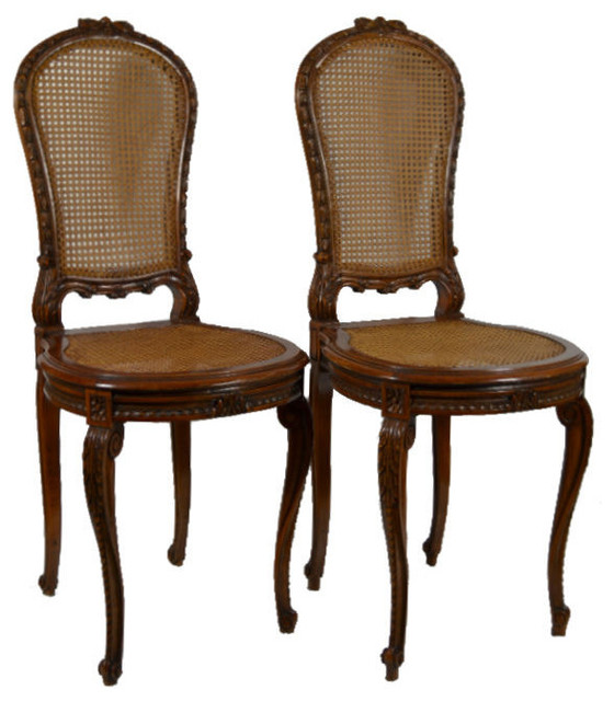 Consigned 2 Matching French Louis XV Style Carved Wood And