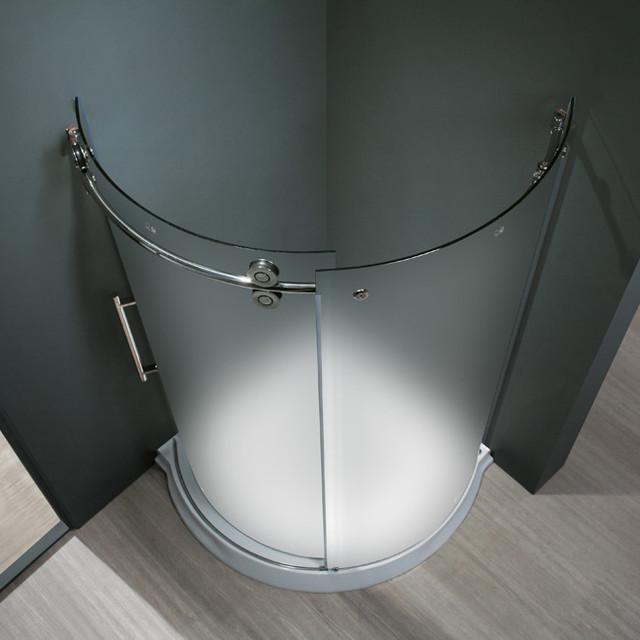 VIGO VG6031CHMT36L Frameless Shower Enclosure traditional-showers