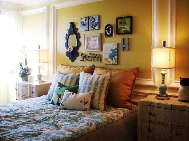 eclectic bedroom by Klang & Associates
