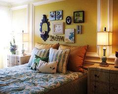 'Anthropologie' inspired loft eclectic-bedroom