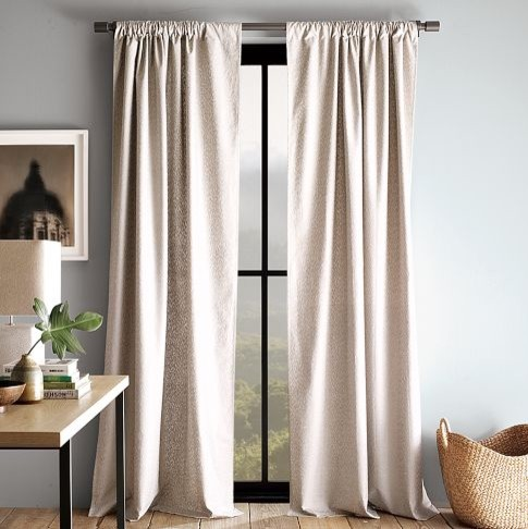 Icon metallic window panel contemporary curtains by for West elm window treatments
