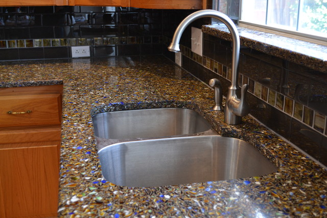 Vetrazzo Recycled Glass Countertop - Contemporary - Kitchen Benchtops - dallas - by SURFACE ...